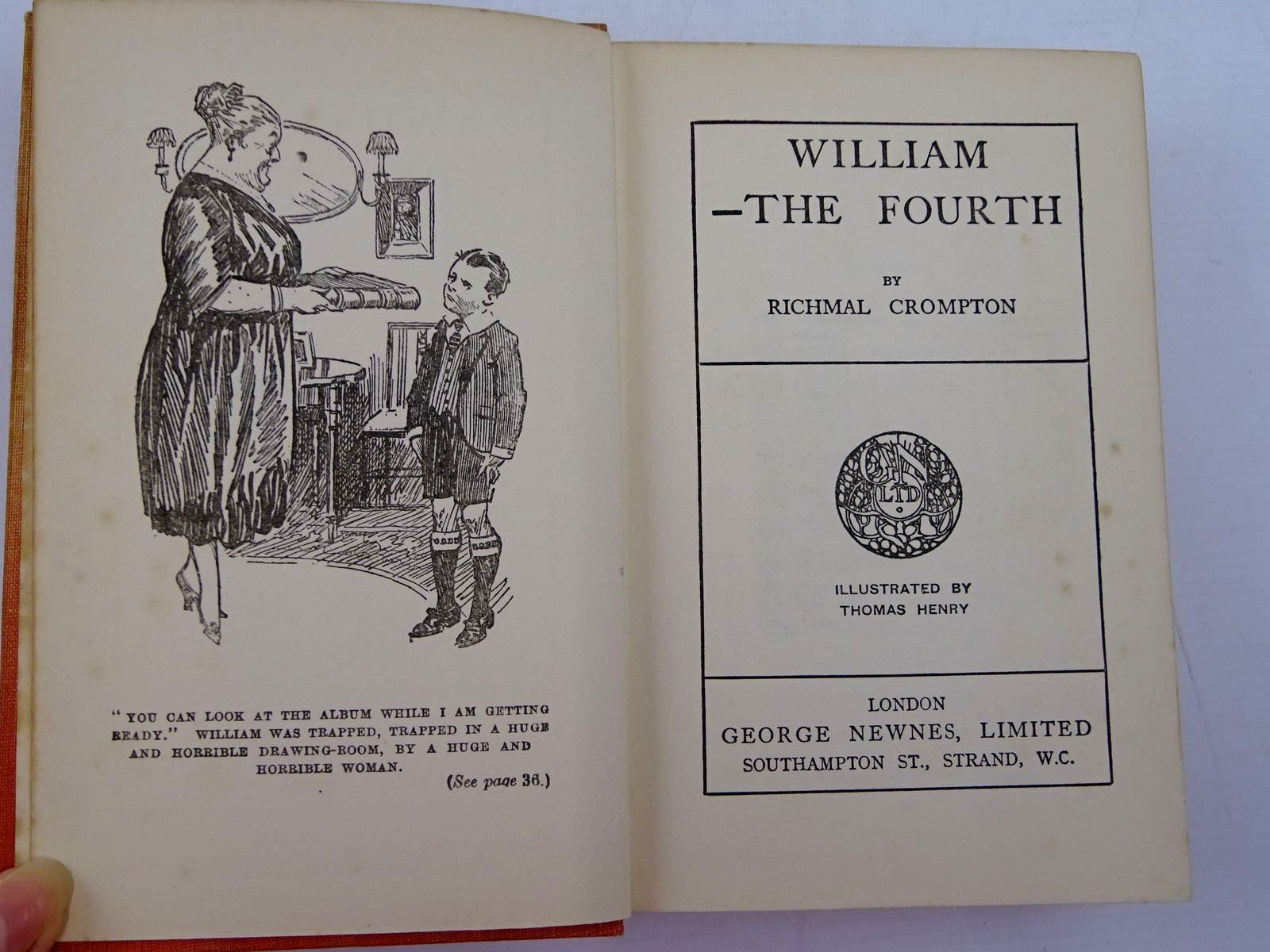 Photo of WILLIAM THE FOURTH written by Crompton, Richmal illustrated by Henry, Thomas published by George Newnes Limited (STOCK CODE: 2131342)  for sale by Stella & Rose's Books