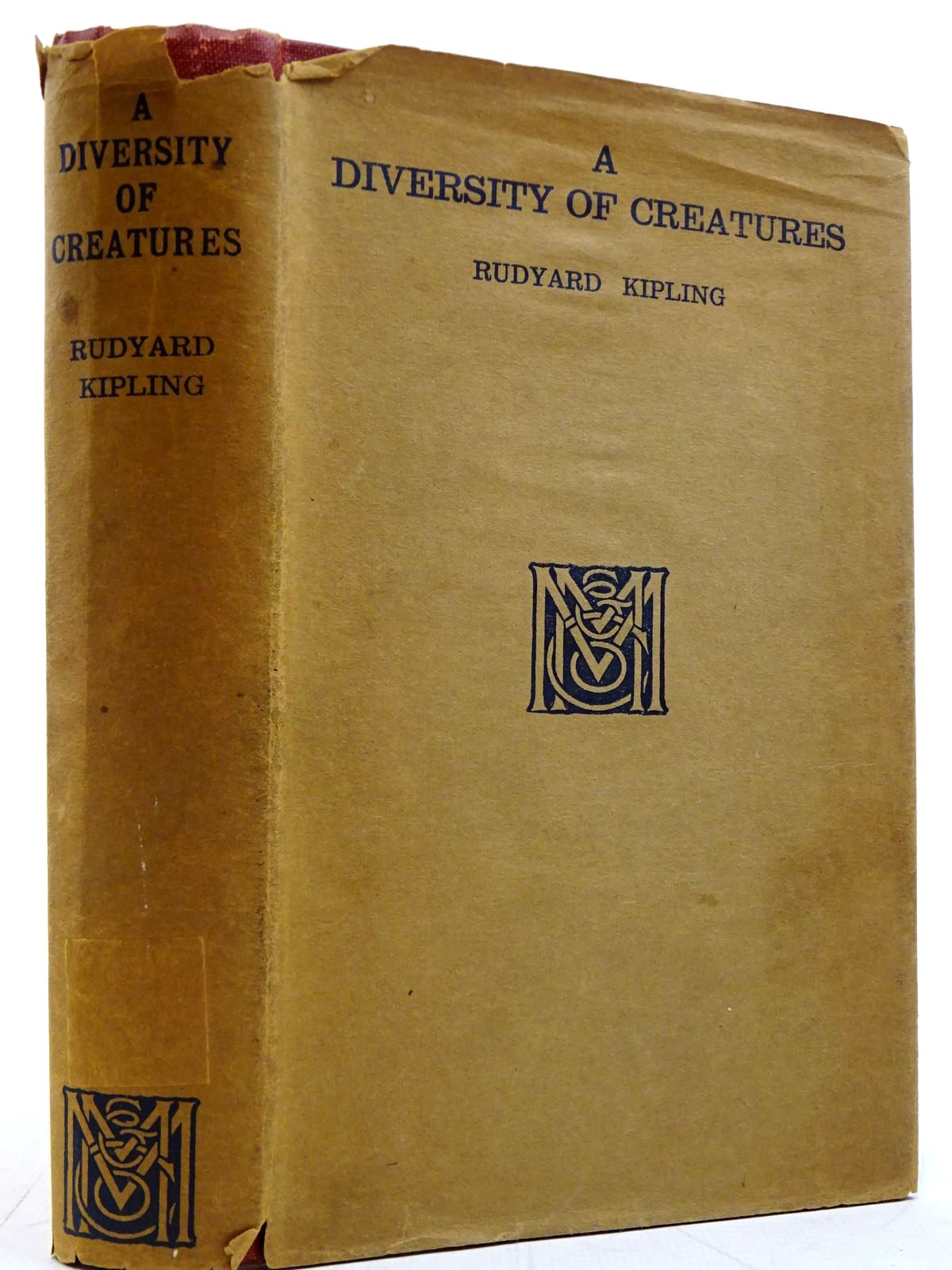 Photo of A DIVERSITY OF CREATURES written by Kipling, Rudyard published by Macmillan & Co. Ltd. (STOCK CODE: 2131373)  for sale by Stella & Rose's Books