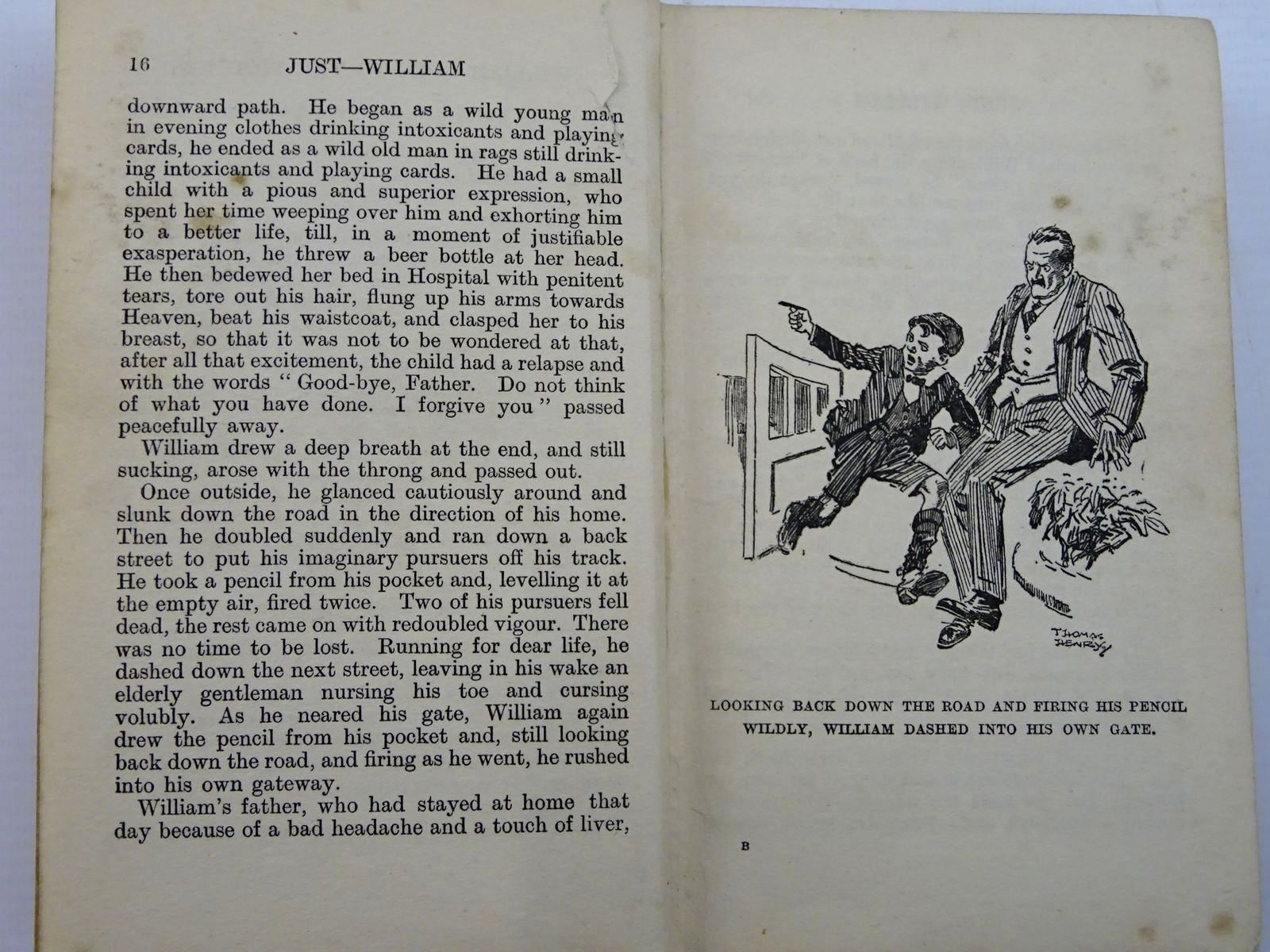 Photo of JUST WILLIAM written by Crompton, Richmal illustrated by Henry, Thomas published by George Newnes Limited (STOCK CODE: 2131396)  for sale by Stella & Rose's Books
