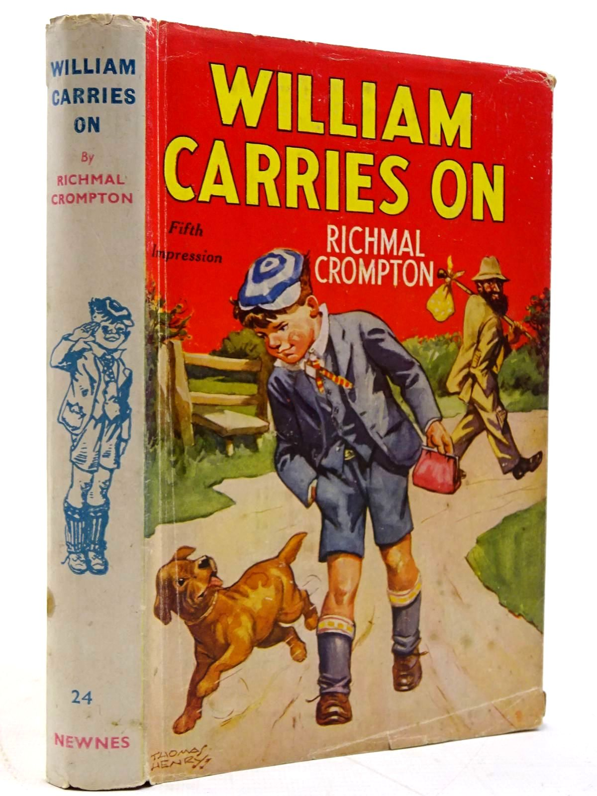 Photo of WILLIAM CARRIES ON written by Crompton, Richmal illustrated by Henry, Thomas published by George Newnes Limited (STOCK CODE: 2131413)  for sale by Stella & Rose's Books