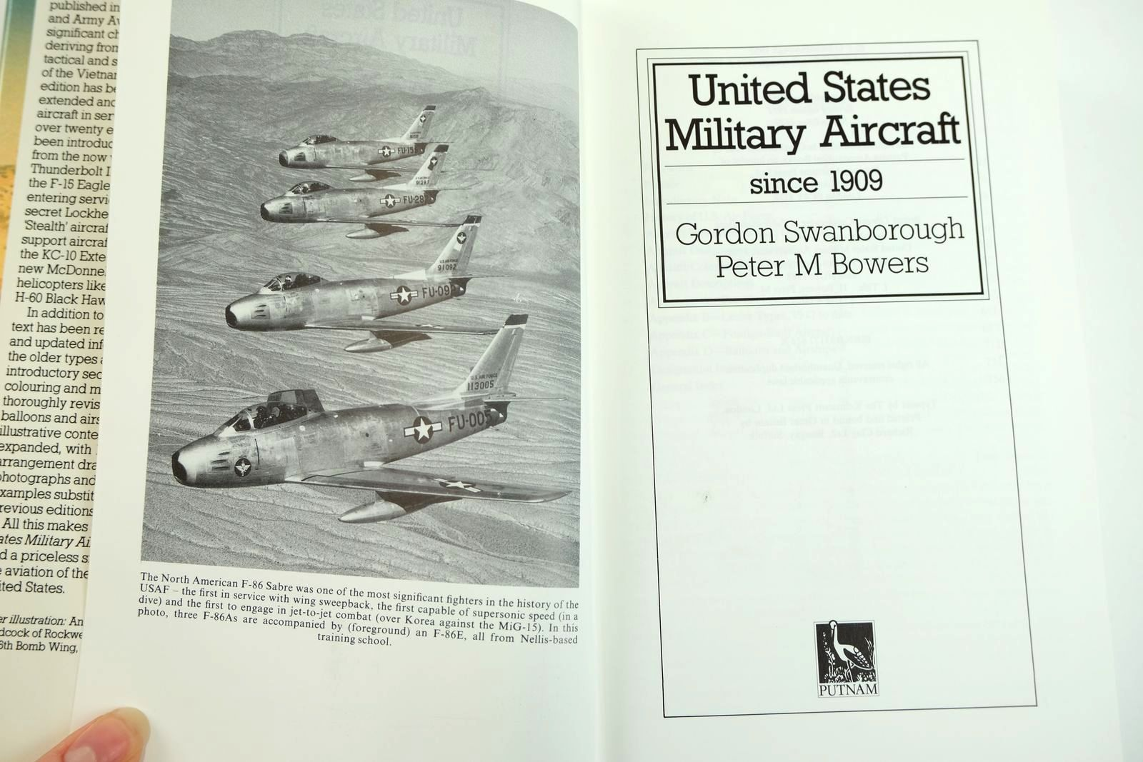 Photo of UNITED STATES MILITARY AIRCRAFT SINCE 1909 written by Swanborough, Gordon Bowers, Peter M. published by Putnam (STOCK CODE: 2132091)  for sale by Stella & Rose's Books