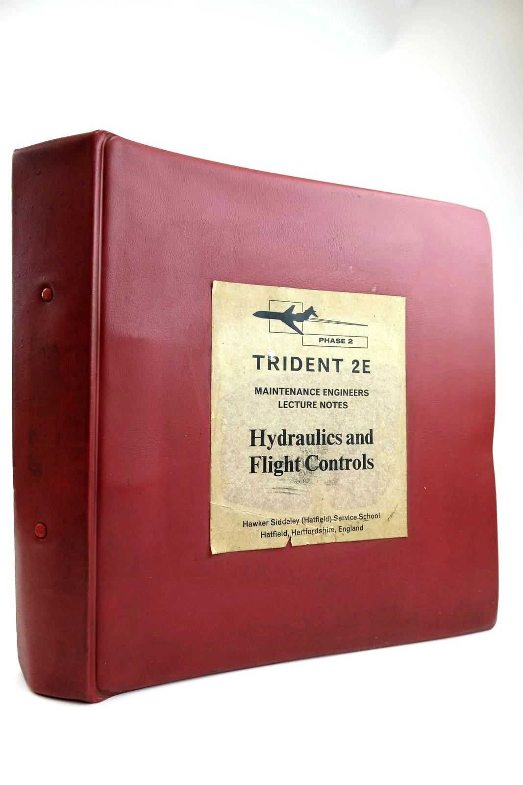 Photo of TRIDENT 2E MAINTENANCE ENGINEERS LECTURE NOTES HYDRAULICS AND FLIGHT CONTROLS- Stock Number: 2132187