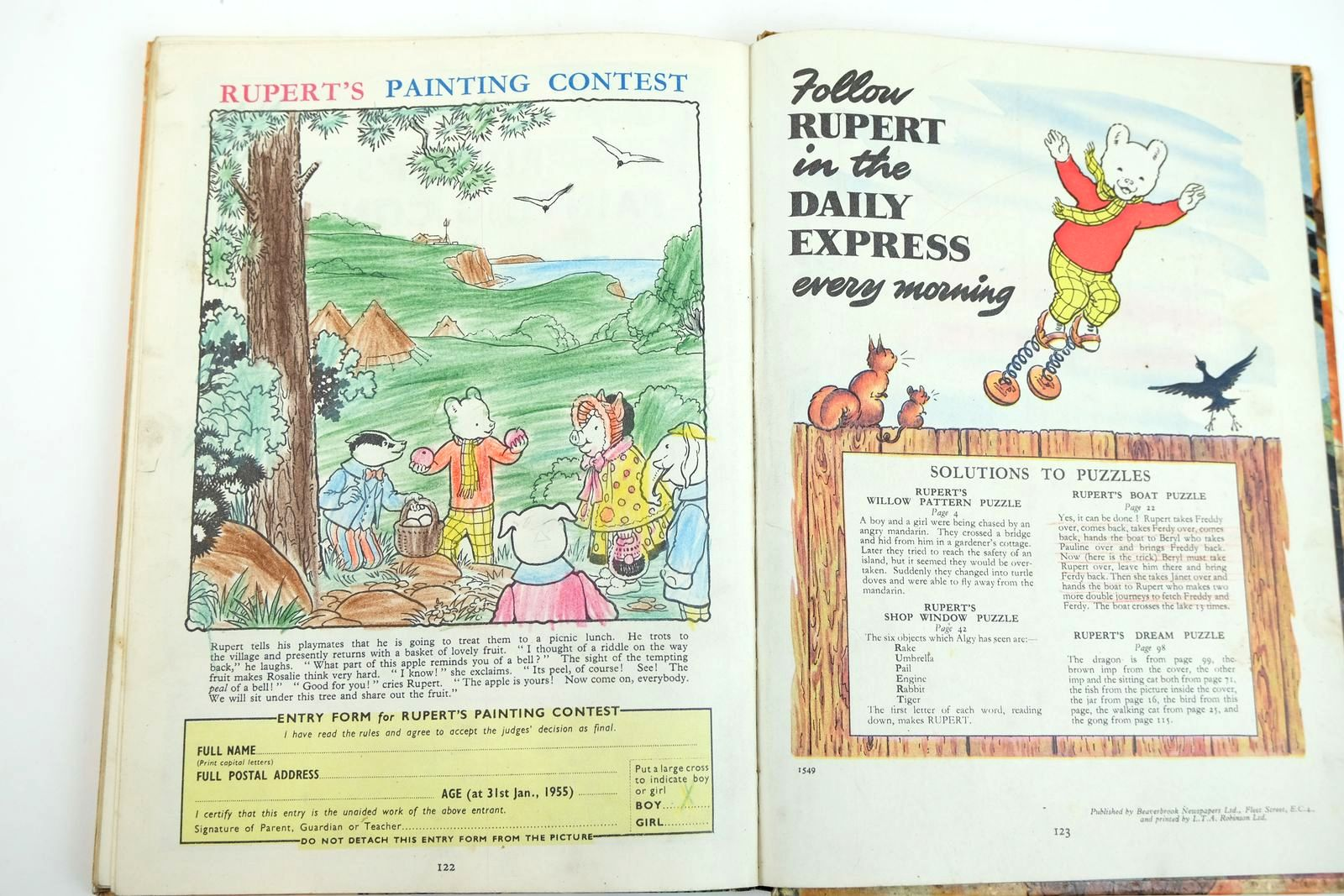 Photo of RUPERT ANNUAL 1954 - THE NEW RUPERT written by Bestall, Alfred illustrated by Bestall, Alfred published by Daily Express (STOCK CODE: 2132194)  for sale by Stella & Rose's Books