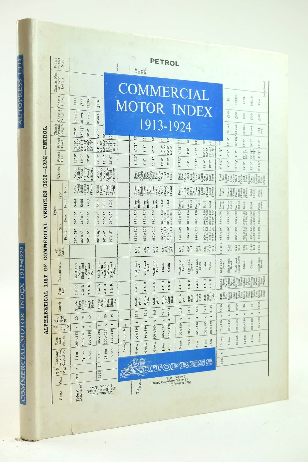 Photo of COMMERCIAL MOTOR INDEX 1913 1924- Stock Number: 2132248