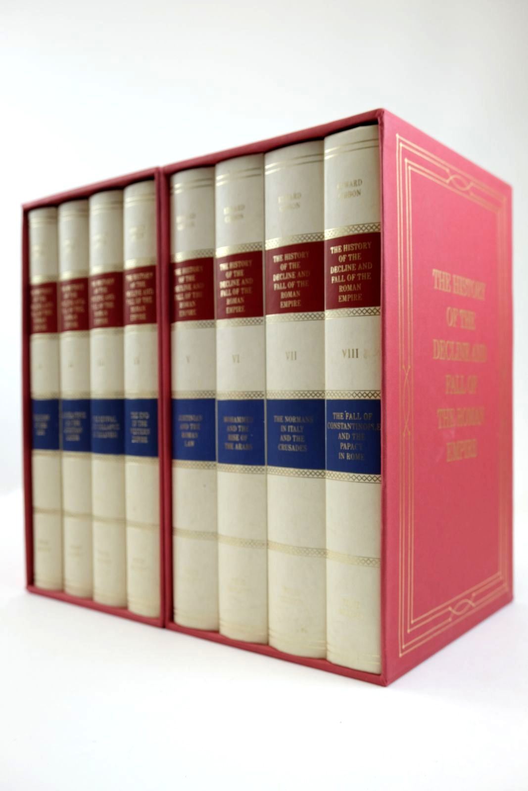 Photo of THE HISTORY OF THE DECLINE AND FALL OF THE ROMAN EMPIRE (8 VOLUMES) written by Gibbon, Edward published by Folio Society (STOCK CODE: 2132468)  for sale by Stella & Rose's Books