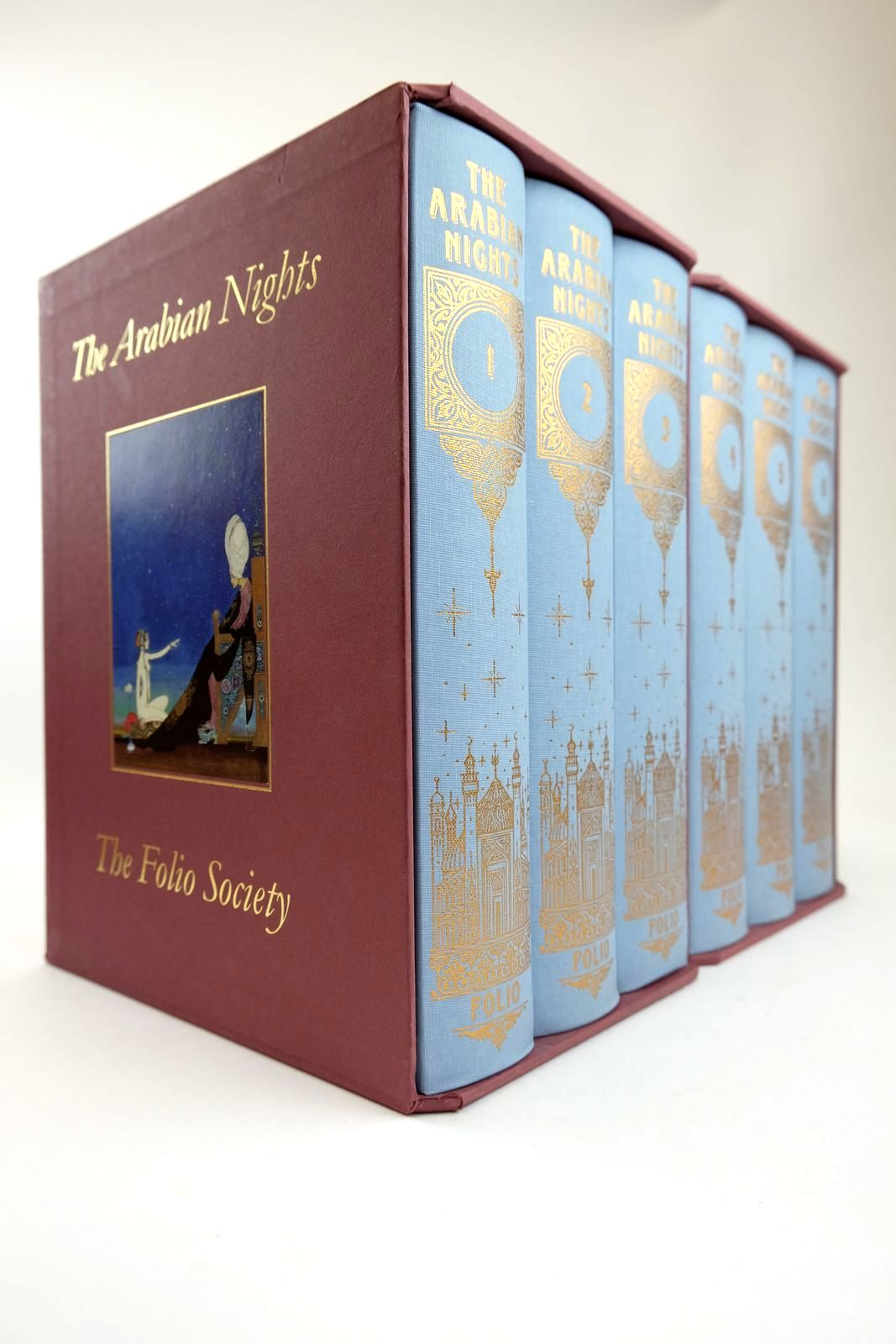 Photo of THE ARABIAN NIGHTS (6 VOLUMES) illustrated by Nielsen, Kay Baker, Grahame Pisarev, Roman Ray, Jane Packer, Neil published by Folio Society (STOCK CODE: 2132469)  for sale by Stella & Rose's Books