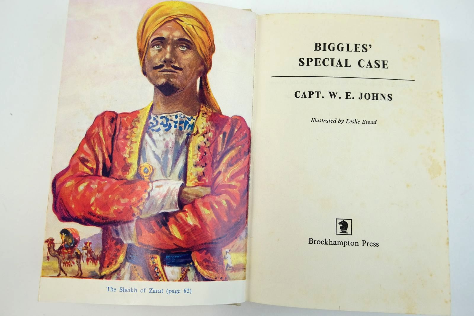 Photo of BIGGLES' SPECIAL CASE written by Johns, W.E. illustrated by Stead, Leslie published by Brockhampton Press (STOCK CODE: 2132522)  for sale by Stella & Rose's Books