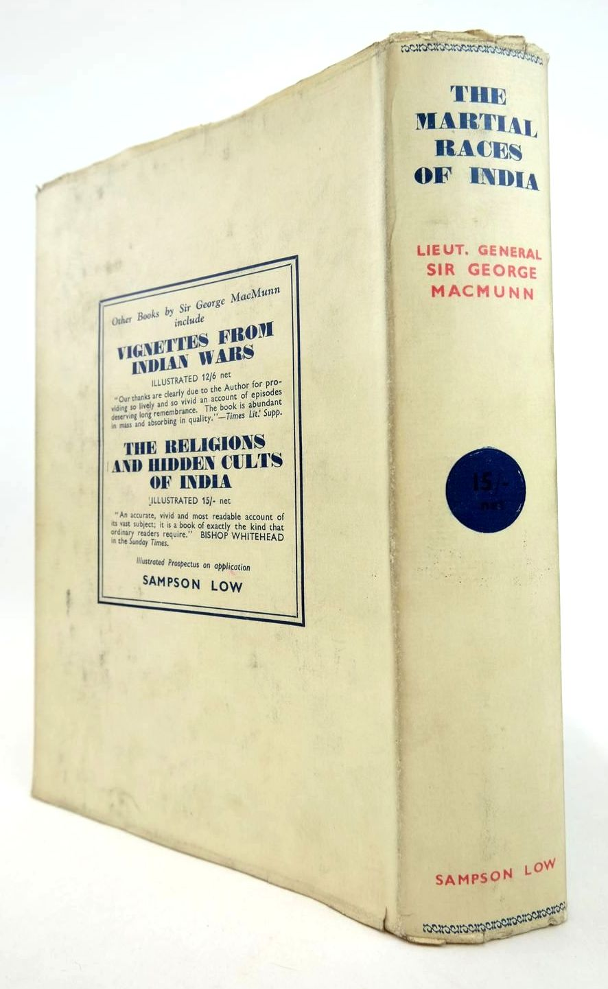 Photo of THE MARTIAL RACES OF INDIA written by Macmunn, G.F. published by Sampson Low, Marston & Co. Ltd. (STOCK CODE: 2132533)  for sale by Stella & Rose's Books
