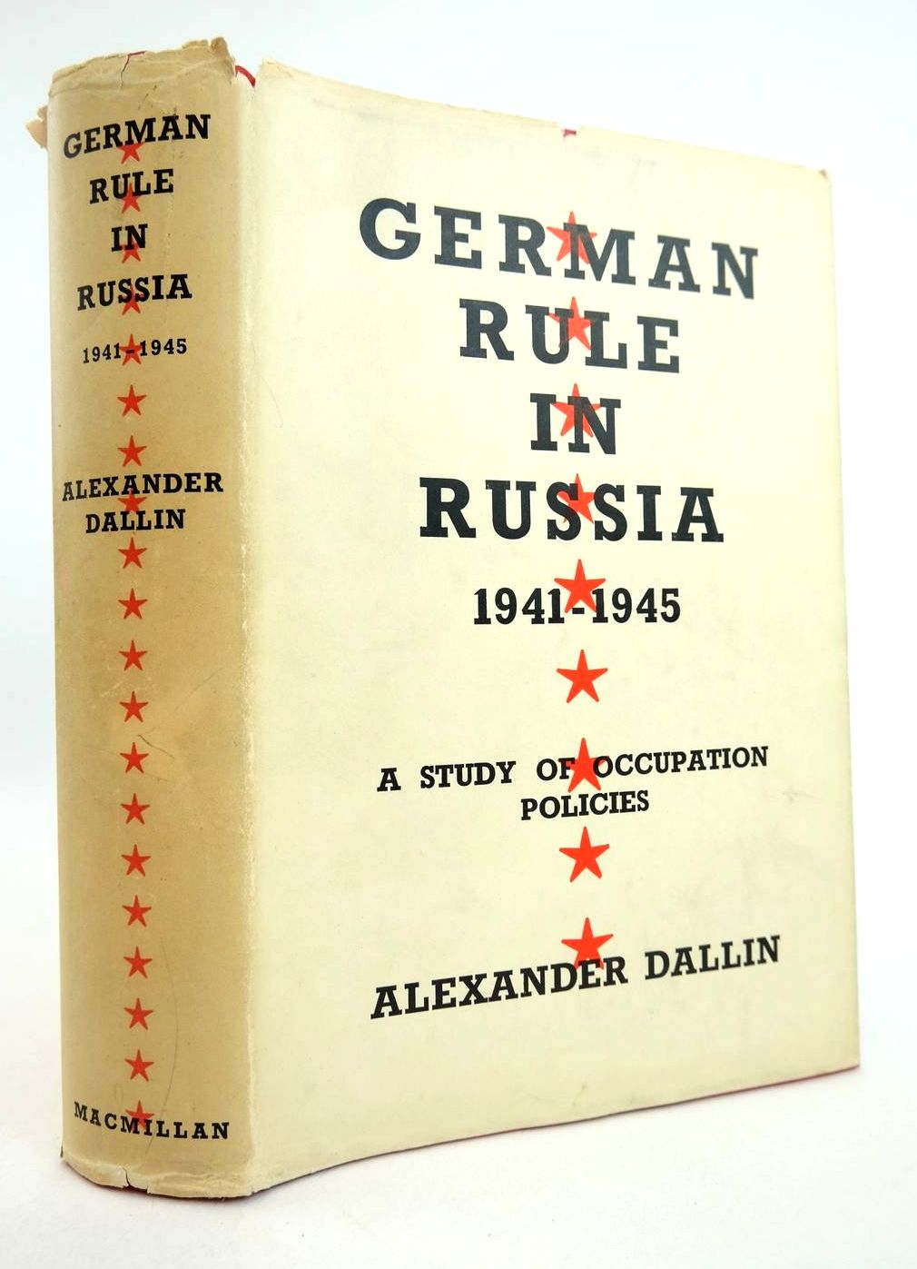 Photo of GERMAN RULE IN RUSSIA 1941-1945 written by Dallin, Alexander published by Macmillan & Co. Ltd. (STOCK CODE: 2132534)  for sale by Stella & Rose's Books