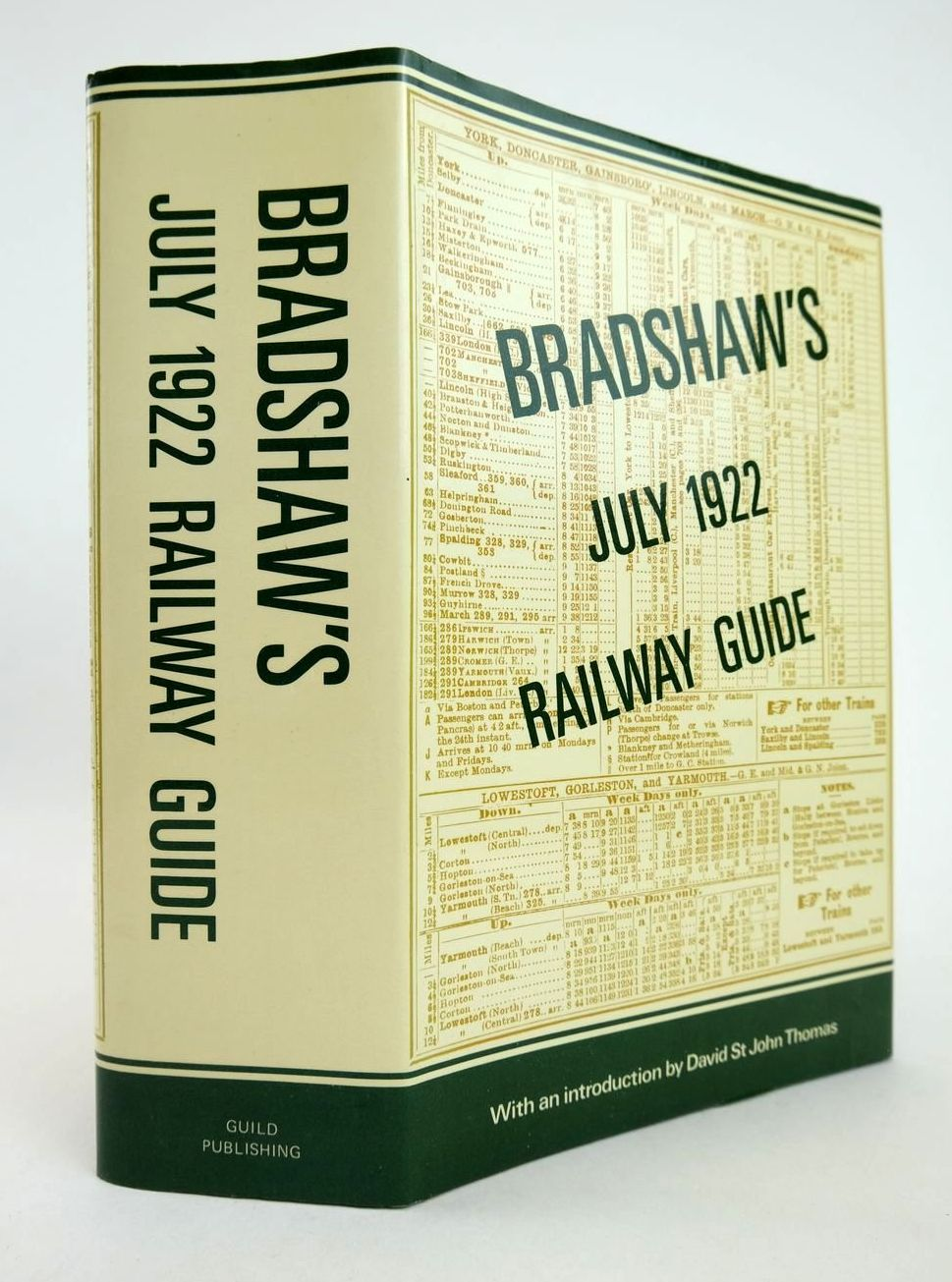 Photo of BRADSHAW'S JULY 1922 RAILWAY GUIDE written by Thomas, David St John published by Guild Publishing (STOCK CODE: 2132815)  for sale by Stella & Rose's Books
