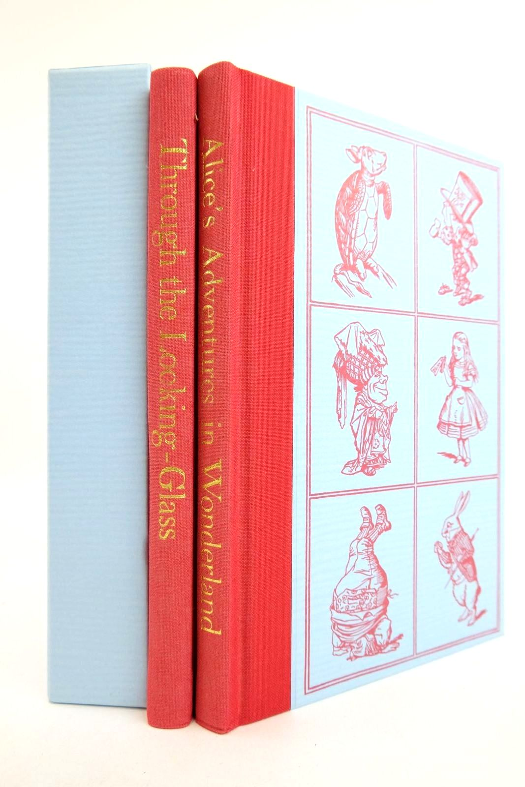 Photo of ALICE'S ADVENTURES IN WONDERLAND AND THROUGH THE LOOKING GLASS (TWO VOLUMES) written by Carroll, Lewis illustrated by Tenniel, John published by Folio Society (STOCK CODE: 2133163)  for sale by Stella & Rose's Books