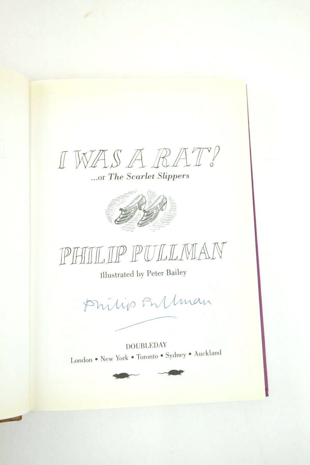 Photo of I WAS A RAT! OR THE SCARLET SLIPPERS written by Pullman, Philip illustrated by Bailey, Peter published by Doubleday (STOCK CODE: 2133347)  for sale by Stella & Rose's Books
