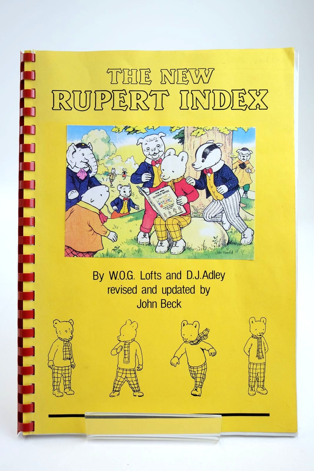 Photo of THE NEW RUPERT INDEX written by Lofts, W.O.G. Adley, D.J. Beck, John published by John Beck (STOCK CODE: 2133880)  for sale by Stella & Rose's Books