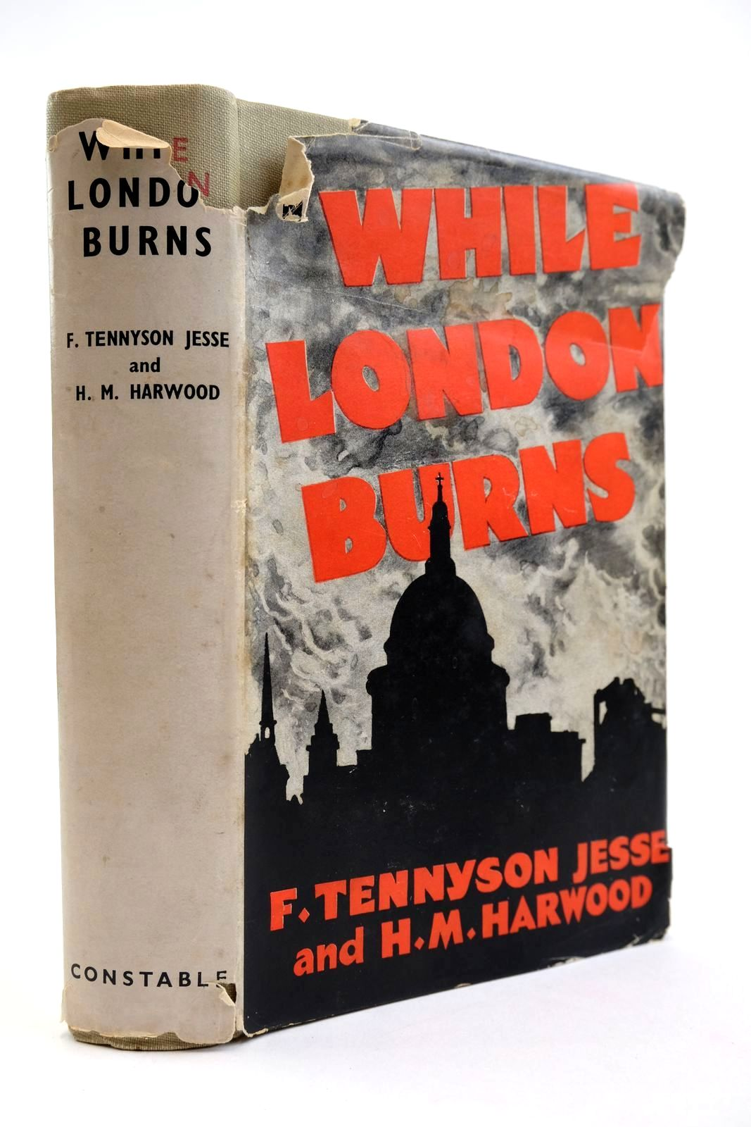 Photo of WHILE LONDON BURNS: LETTERS WRITTEN TO AMERICA (JULY 1940 - JUNE 1941) written by Jesse, F. Tennyson Harwood, H.M. published by Constable & Co. Ltd. (STOCK CODE: 2133916)  for sale by Stella & Rose's Books
