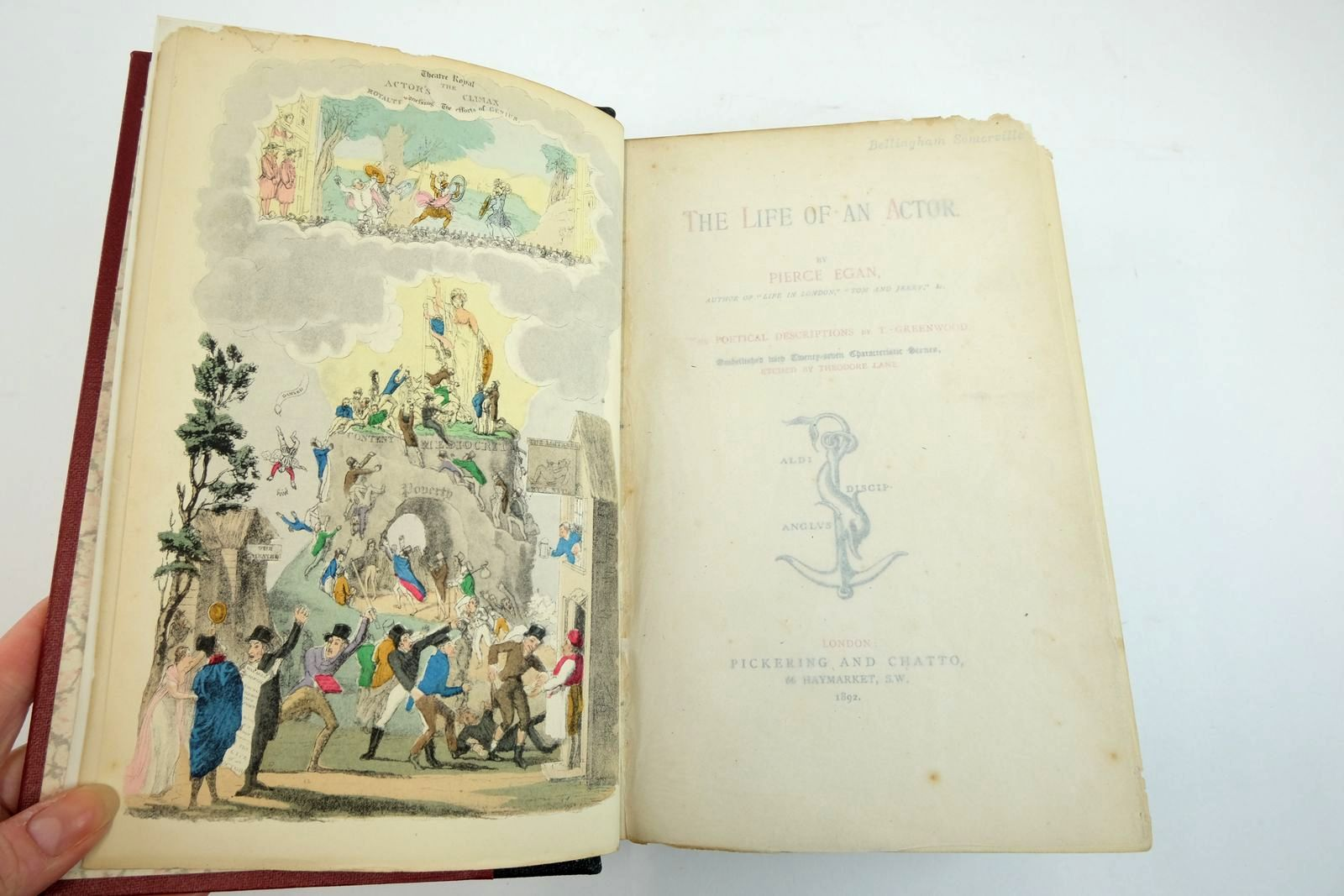 Photo of THE LIFE OF AN ACTOR written by Egan, Pierce Greenwood, T. illustrated by Lane, Theodore published by Pickering & Chatto (STOCK CODE: 2134073)  for sale by Stella & Rose's Books