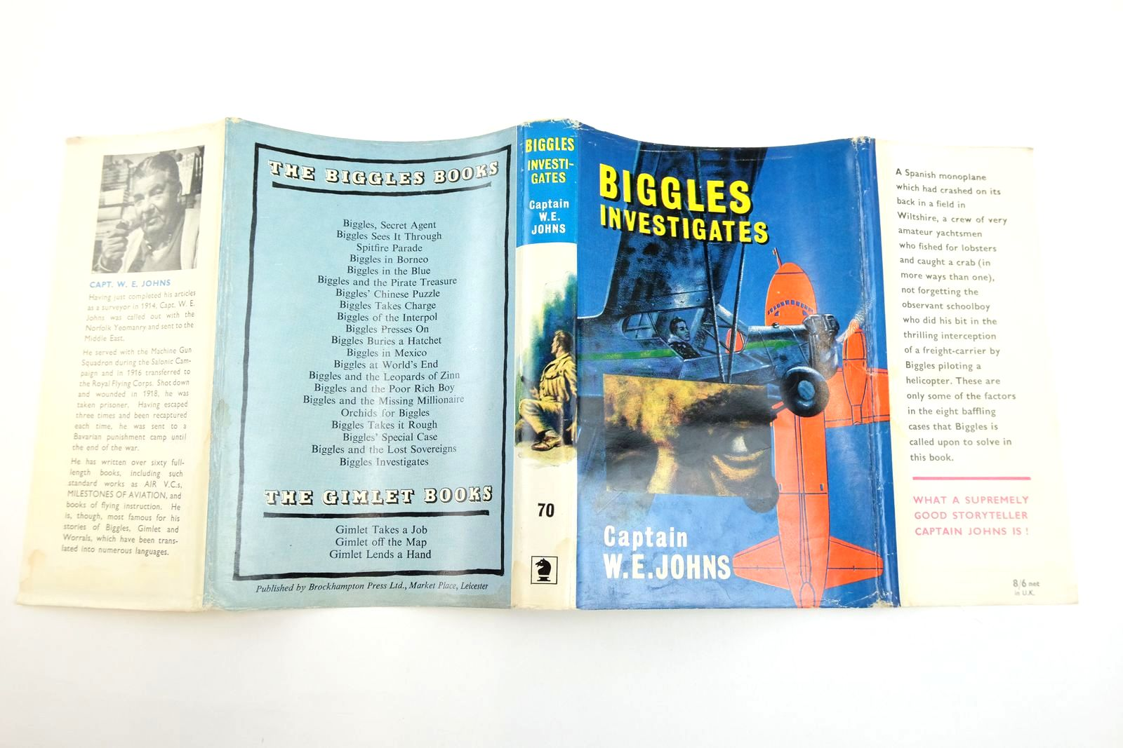 Photo of BIGGLES INVESTIGATES written by Johns, W.E. illustrated by Stead, Leslie published by Brockhampton Press (STOCK CODE: 2134082)  for sale by Stella & Rose's Books