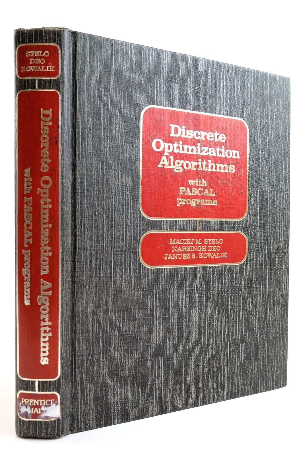 Photo of DISCRETE OPTIMIZATION ALGORITHMS WITH PASCAL PROGRAMS- Stock Number: 2134108