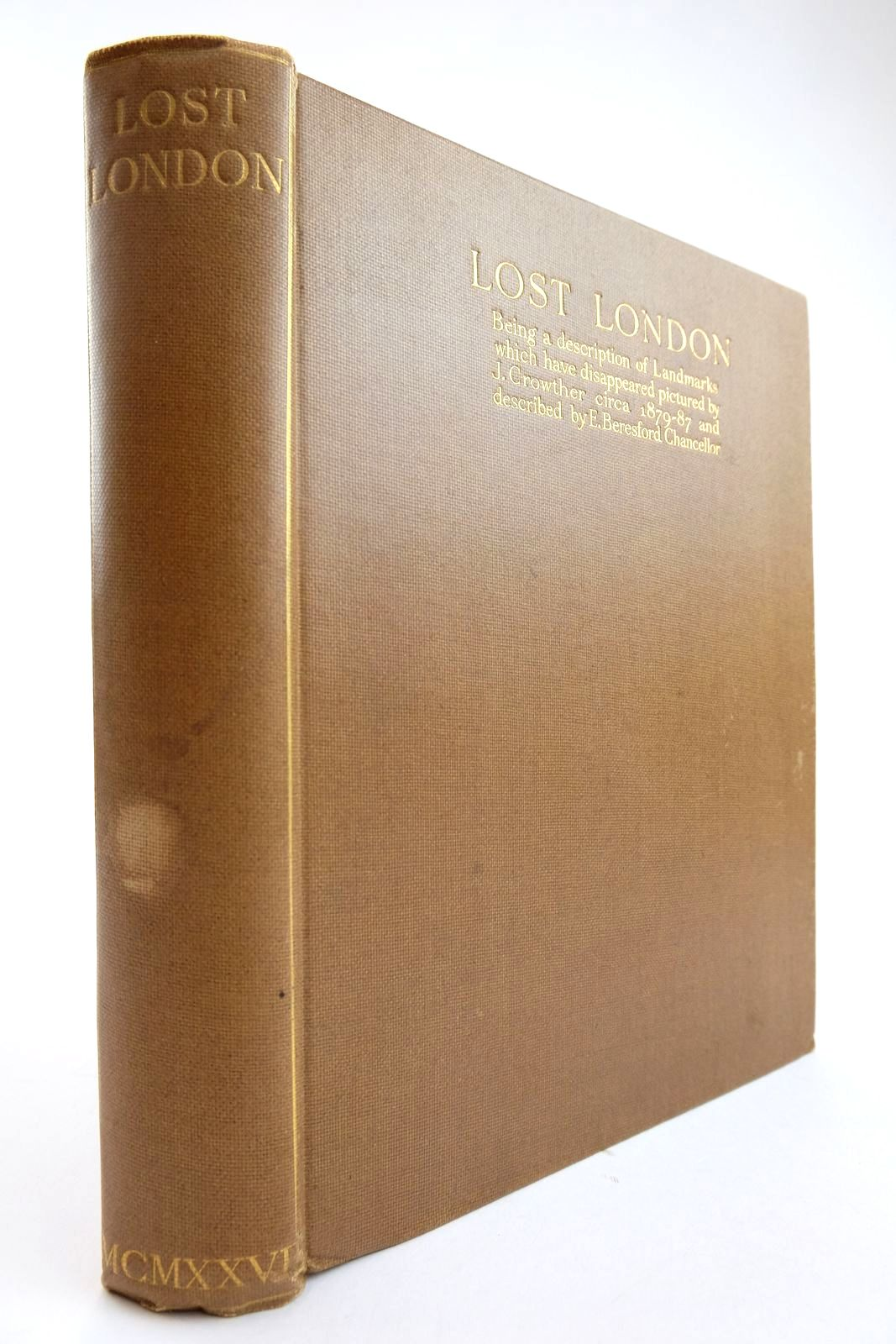 Photo of LOST LONDON written by Chancellor, E. Beresford illustrated by Crowther, J. published by Constable and Company Ltd. (STOCK CODE: 2134139)  for sale by Stella & Rose's Books