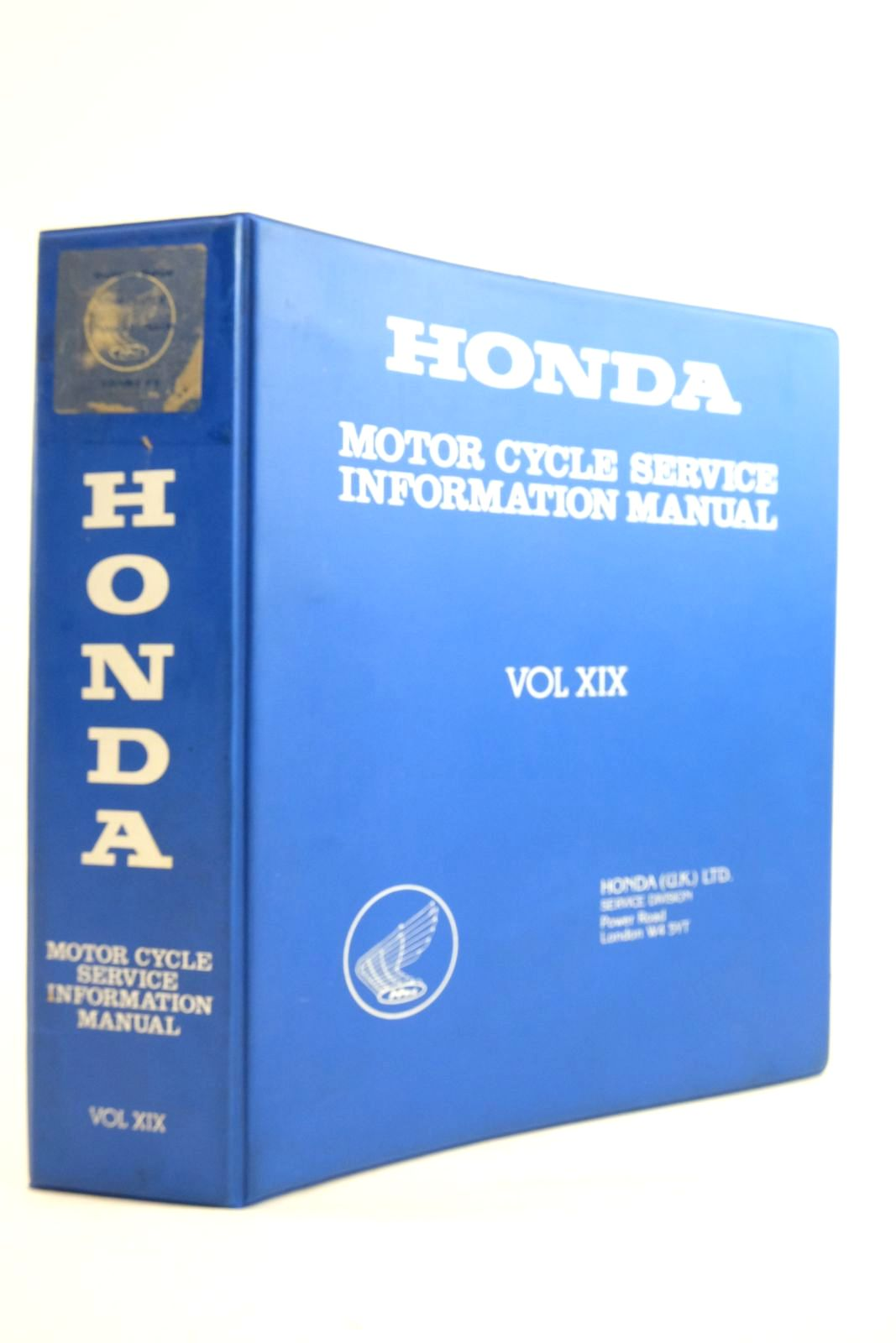 Photo of HONDA MOTOR CYCLE SERVICE INFORMATION MANUAL VOLUME XIX published by Honda (u.K.) Ltd. (STOCK CODE: 2134577)  for sale by Stella & Rose's Books