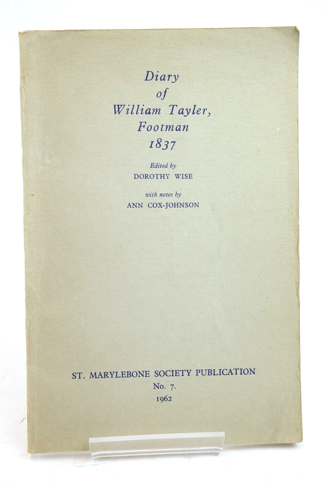 Photo of DIARY OF WILLIAM TAYLER, FOOTMAN 1837- Stock Number: 2134798
