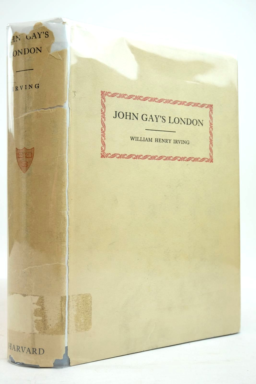 Photo of JOHN GAY'S LONDON written by Irving, William Henry published by Harvard University Press (STOCK CODE: 2134803)  for sale by Stella & Rose's Books