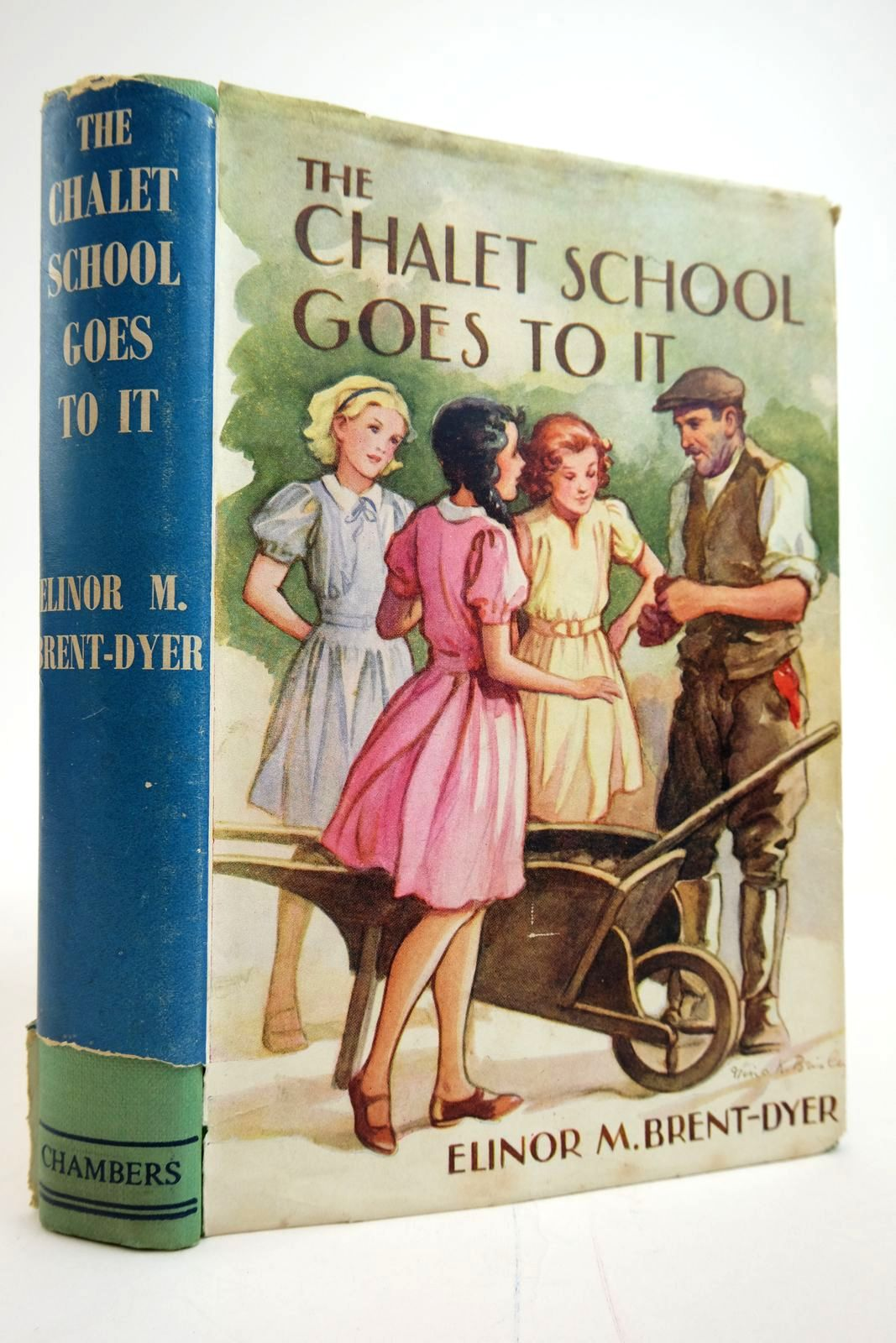 Photo of THE CHALET SCHOOL GOES TO IT written by Brent-Dyer, Elinor M. published by W. & R. Chambers Limited (STOCK CODE: 2135307)  for sale by Stella & Rose's Books