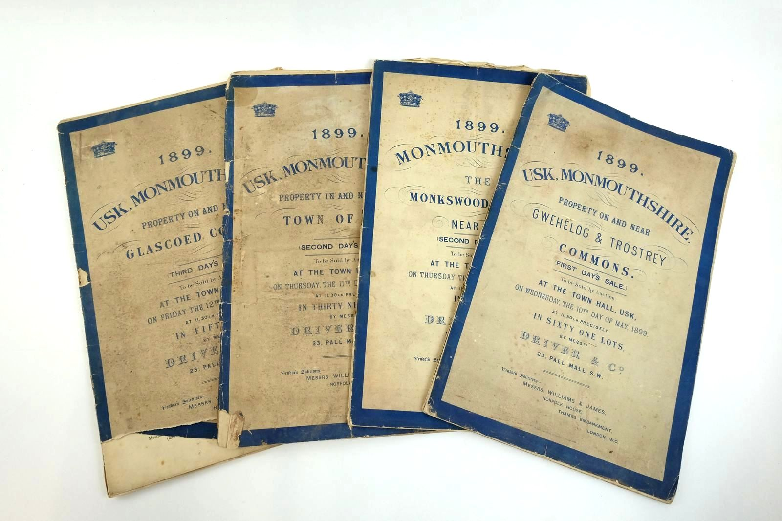 Photo of 1899 USK, MONMOUTHSHIRE (4 AUCTION BROCHURES)- Stock Number: 2135502