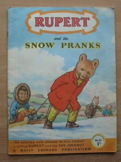 Photo of RUPERT ADVENTURE SERIES No. 31 - RUPERT AND THE SNOW PRANKS written by Bestall, Alfred published by Daily Express (STOCK CODE: 428727)  for sale by Stella & Rose's Books