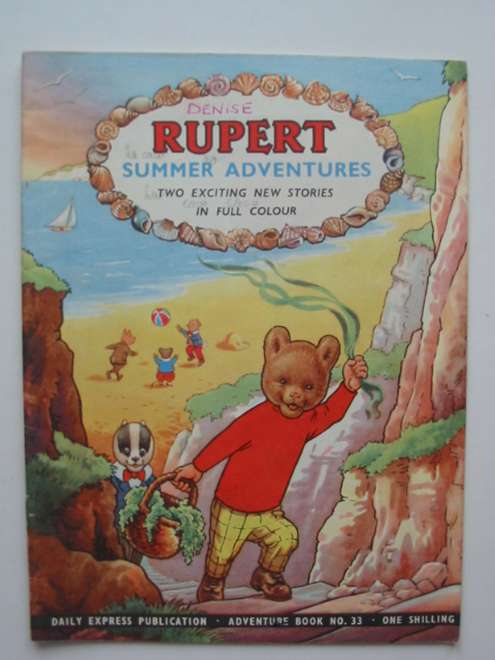Photo of RUPERT ADVENTURE BOOK No. 33 - SUMMER ADVENTURES written by Bestall, Alfred published by Daily Express, Oldbourne Book Co. Ltd. (STOCK CODE: 444570)  for sale by Stella & Rose's Books