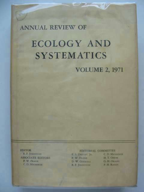 Photo of ANNUAL REVIEW OF ECOLOGY AND SYSTEMATICS VOLUME 2 written by Johnston, Richard F.