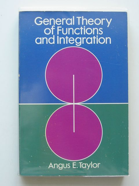 Photo of GENERAL THEORY OF FUNCTIONS AND INTEGRATION- Stock Number: 556931