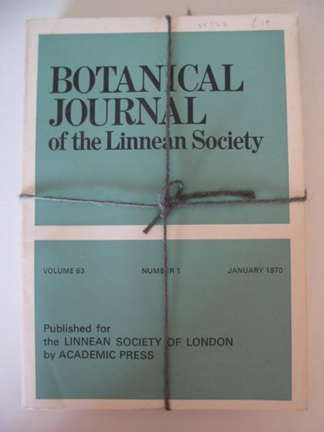 Photo of BOTANICAL JOURNAL OF THE LINNEAN SOCIETY VOLUME 63 published by Academic Press (STOCK CODE: 559271)  for sale by Stella & Rose's Books