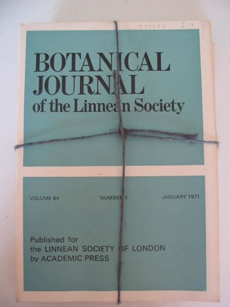Photo of BOTANICAL JOURNAL OF THE LINNEAN SOCIETY VOLUME 64 published by Academic Press (STOCK CODE: 559272)  for sale by Stella & Rose's Books
