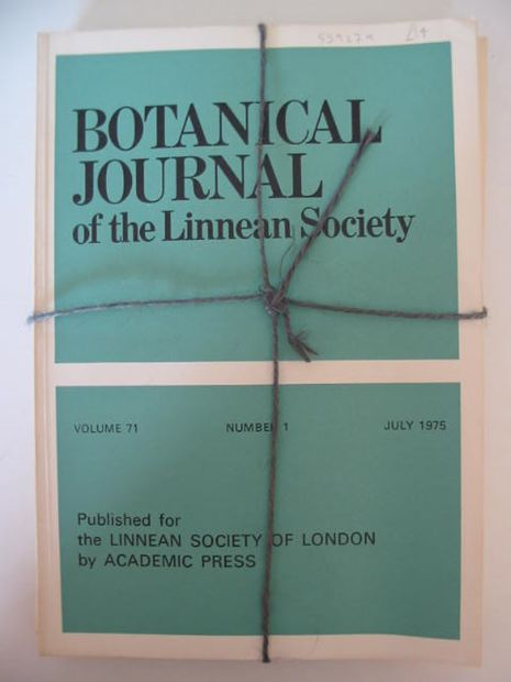 Photo of BOTANICAL JOURNAL OF THE LINNEAN SOCIETY VOLUME 71 published by Academic Press (STOCK CODE: 559279)  for sale by Stella & Rose's Books