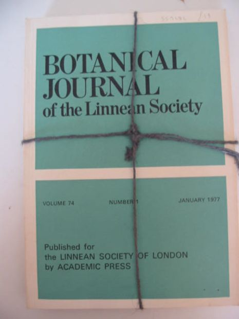 Photo of BOTANICAL JOURNAL OF THE LINNEAN SOCIETY VOLUME 74 published by Academic Press (STOCK CODE: 559282)  for sale by Stella & Rose's Books