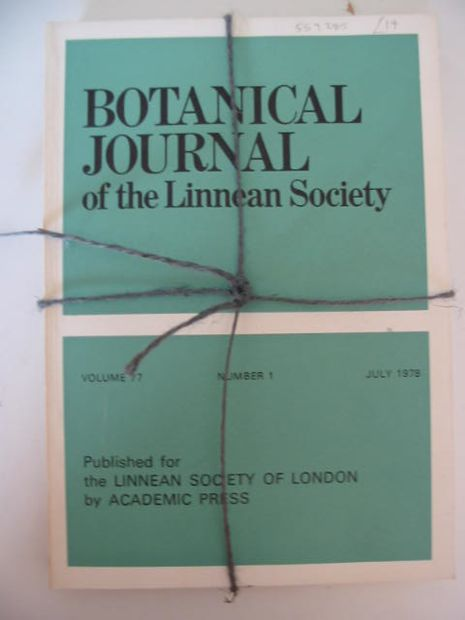 Photo of BOTANICAL JOURNAL OF THE LINNEAN SOCIETY VOLUME 77 published by Academic Press (STOCK CODE: 559285)  for sale by Stella & Rose's Books