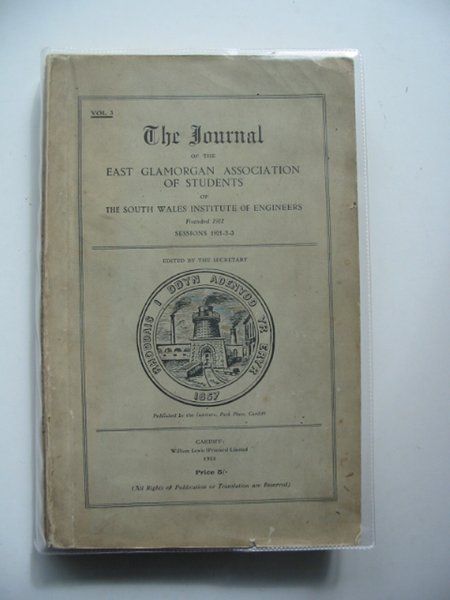Photo of THE JOURNAL OF THE EAST GLAMORGAN ASSOCIATION OF STUDENTS OF THE SOUTH WALES INSTITUTE OF ENGINEERS VOL 3 published by The South Wales Institute Of Engineers (STOCK CODE: 560477)  for sale by Stella & Rose's Books