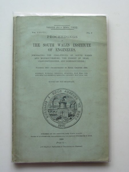 Photo of PROCEEDINGS OF THE SOUTH WALES INSTITUTE OF ENGINEERS VOL XXXVIII published by The South Wales Institute Of Engineers (STOCK CODE: 560481)  for sale by Stella & Rose's Books