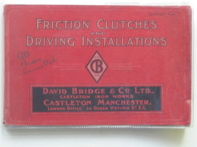 Photo of FRICTION CLUTCHES AND DRIVING INSTALLATIONS- Stock Number: 561411