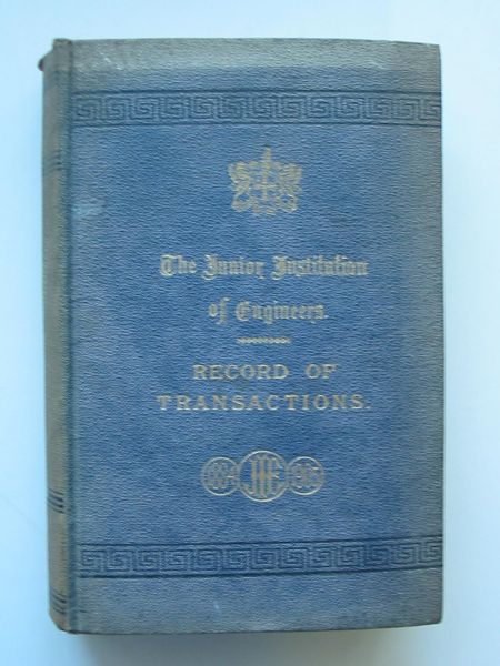 Photo of THE JUNIOR INSTITUTION OF ENGINEERS RECORD OF TRANSACTIONS VOLUME XV written by Dunn, Walter T. published by Percival Marshall And Co Ltd. (STOCK CODE: 565688)  for sale by Stella & Rose's Books