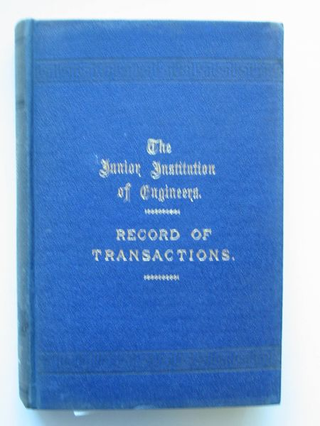 Photo of THE JUNIOR INSTITUTION OF ENGINEERS RECORD OF TRANSACTIONS VOLUME XIV written by Dunn, Walter T. published by Percival Marshall And Co Ltd. (STOCK CODE: 565690)  for sale by Stella & Rose's Books