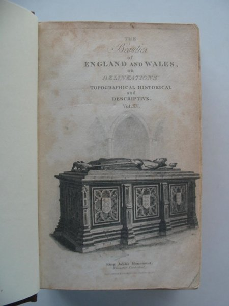 Photo of THE BEAUTIES OF ENGLAND AND WALES VOL XV WARWICKSHIRE & WORCESTERSHIRE written by Britton, John