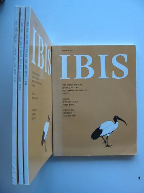 Photo of IBIS VOLUME 136 written by Coulson, John Jones, Peter published by British Ornithologists' union (STOCK CODE: 577245)  for sale by Stella & Rose's Books