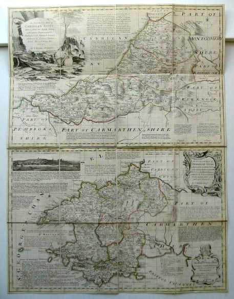 Photo of AN ACCURATE MAP OF CARDIGANSHIRE AND AN ACCURATE MAP OF PEMBROKESHIRE- Stock Number: 586163
