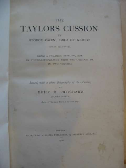 Photo of THE TAYLOR'S CUSSION written by Owen, George<br />Pritchard, Emily M published by Blades, East &amp; Blades (STOCK CODE: 590718)  for sale by Stella & Rose's Books
