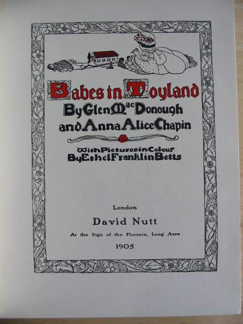 Photo of BABES IN TOYLAND written by MacDonough, Glen Chapin, Anna Alice illustrated by Betts, Ethel Franklin published by David Nutt (STOCK CODE: 591527)  for sale by Stella & Rose's Books