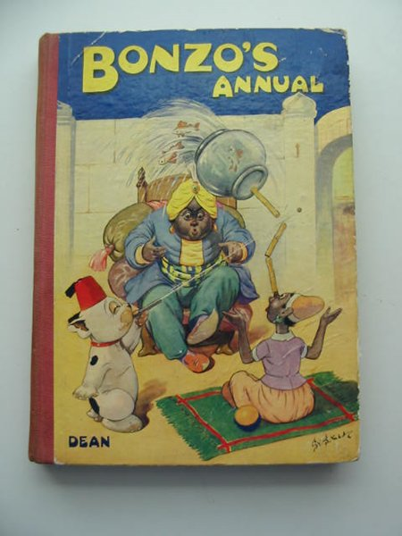 Photo of BONZO'S ANNUAL 1949 written by Studdy, G.E. illustrated by Studdy, G.E. published by Dean & Son Ltd. (STOCK CODE: 592401)  for sale by Stella & Rose's Books