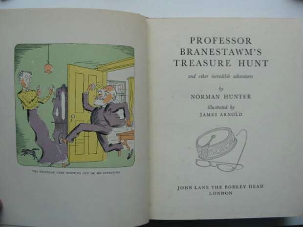 Photo of PROFESSOR BRANESTAWM'S TREASURE HUNT written by Hunter, Norman illustrated by Arnold, James published by John Lane The Bodley Head (STOCK CODE: 593036)  for sale by Stella & Rose's Books