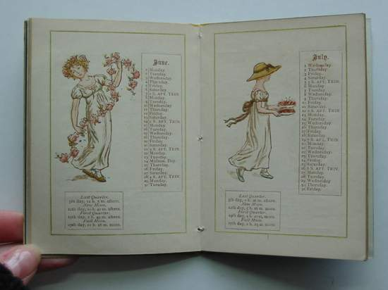 Photo of ALMANACK FOR 1885 illustrated by Greenaway, Kate published by George Routledge & Sons (STOCK CODE: 594895)  for sale by Stella & Rose's Books