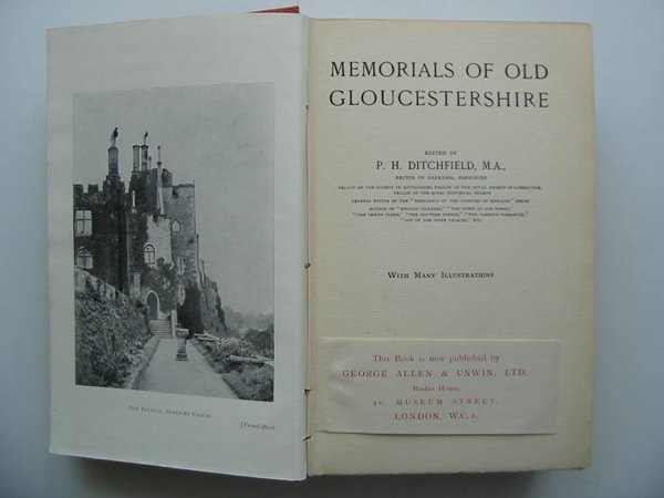 Photo of MEMORIALS OF OLD GLOUCESTERSHIRE written by Ditchfield, P.H. published by George Allen & Unwin Ltd. (STOCK CODE: 598033)  for sale by Stella & Rose's Books